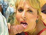 Trudy Teases Cock with Her Tongue Ring